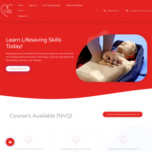 CACH First Aid training offers regulated and accredited first aid, food hygiene, mental health and safeguarding training to individuals, parents, grandparents, businesses, schools, and colleges.